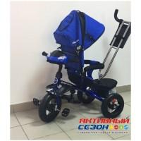 """Трехколесный велосипед SAFARI TRIKE, поворотное сидение, свободный ход колеса, надувные колеса 12"""" и 10"""" (синий)"""