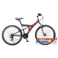 """Велосипед Stels Focus V 18 sp (V030) (26"""" 18 скор.) (Р-р = 18; Цвет: Черный/Красный; Черный/Зеленый) Рама Сталь"""