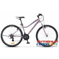 """Велосипед Stels Miss 5000 V (V 040) (2018) (26"""" 18 скор.) (Р-р = 17; Цвет: Фиолетовый; Розовый) Рама Сталь"""