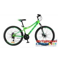 "Велосипед Stels Navigator 510 MD (2017) (26"" 21 скор.) (Р-р = 14; Цвет: Зеленый) Рама Алюминий"