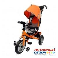 """Трехколесный велосипед Turbo Trike колеса надувные алюминиевые 12""""/10""""  (оранжевый)"""