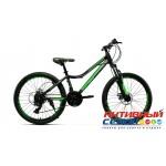 """Велосипед CRAIT JOYS Disk (24"""" 21 ск.) (Цвет: черный-зеленый; черный-розовый) Рама Сталь"""