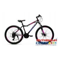"""Велосипед CRAIT RUBY Disc (26"""" 21 ск.) (Р-р = 15""""; 17"""" Цвет: черный-фиолетовый-синий; черный-розовый) Рама Сталь"""