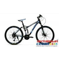 """Велосипед CRAIT ULTIMATE Disc (26"""" 21 ск.) (Р-р = 18"""" Цвет: черный-синий; черный-красный; черный-зеленый) Рама Алюминий"""