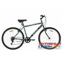"Велосипед Mikado Blitz Lite (26"" 6 скор.) (Цвет: Серый / Зеленый) Рама Сталь"