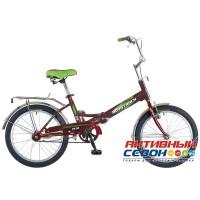 Велосипед складной Novatrack FS-30 (20'' 1 скор.) (Цвет: Красный; Сиреневый) Рама Сталь