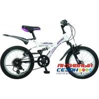 """Велосипед Novatrack Dart (16"""" 5 скор.) (Цвет: белый) Рама Сталь"""