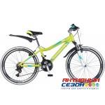 """Велосипед Novatrack Novara (24"""" 18 скор.) (Р-р = 14"""", Цвет: лаймовый) Рама Алюминий"""