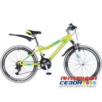 """Велосипед Novatrack Novara (24"""" 18 скор.) (Р-р = 13"""", Цвет: лаймовый, аквамарин) Рама Алюминий"""