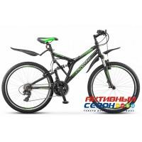 "Велосипед Stels Crosswind V Z010 (26"" 21 скор.) (Р-р = 20; Черный/Салтовый) Рама Сталь"