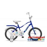 Детский велосипед Stels Wind 16 (Z010) (Синий; Зеленый) Рама Сталь