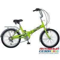 Велосипед складной Novatrack FS-30 (20'' 6 скор.) (Цвет: Салатовый) Рама Сталь