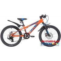 """Велосипед Novatrack Extreme DISC (20"""" 7 скор.) (Цвет: Оранжевый) Рама Алюминий"""