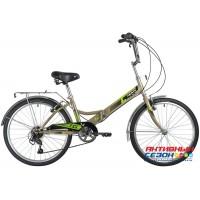 Велосипед складной Novatrack TG (24'' 6 скор.) (Цвет: Черный, серый) Рама Сталь