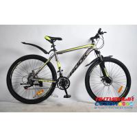 "Велосипед Rook MA270D (27,5"" 21 скор.) (Цвет: серый/желтый) Рама алюминий"