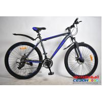 "Велосипед Rook MA271D (27,5"" 24 скор.) (Цвет: серый/синий) Рама алюминий"