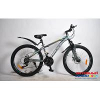 """Велосипед Rook MS241D (24"""" 21 скор.) (  Цвет: серый/желтый) Рама сталь"""