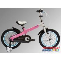 """Велосипед Royal Baby Buttons Alloy 18"""", алюминиевая рама (розовый, зеленый) RB18-16"""