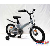 """Детский велосипед Rook Hope (18"""" 1 скор.) (  Цвет: серебристый, синий) Рама из магниевого сплава"""