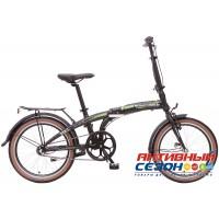 """Велосипед складной Novatrack Nexus TG-20"""" (2018) (20'' 3 скор.) (Цвет:Черный) Рама Алюминий"""