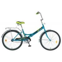 Велосипед складной Novatrack TG-24 classic (24'' 1 скор.) (Цвет: Синий; Красный) Рама Сталь