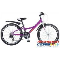 """Велосипед Novatrack Lady (2017) (24"""" 21 скор.) (Цвет: Фиолетовый) Рама Алюминий"""