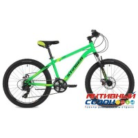 "Велосипед Stinger Aragon (24"" 14 скор.) (Р-р = 14""; Цвет: Зеленый) Рама Сталь"