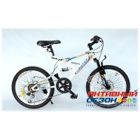 """Велосипед EUROTEX FLASH (20"""" 6 скор.) (Цвет: Бело-Оранжевый) Рама Сталь"""