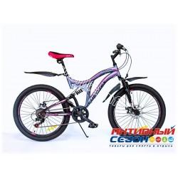 """Велосипед EUROTEX PROTON (24"""" 6 скор.) (Цвет: Серо-Розовый (Матовый)) Рама Сталь"""