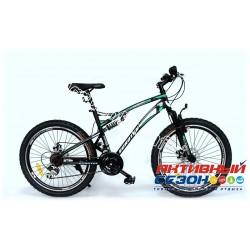 """Велосипед EUROTEX WAVE (24"""" 18 скор.) (Цвет: Черно-Зеленый (Матовый)) Рама Сталь"""