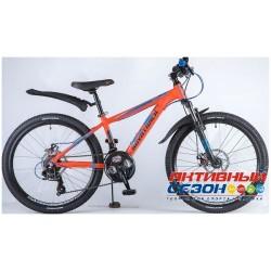 """Велосипед Novatrack Extreme (24"""" 21 скор.) (Р-р = 13""""; Цвет: Оранжевый) Рама Алюминий"""