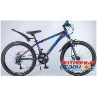 """Велосипед NOVATRACK LUMEN (24"""" 18 скор.) (Р-р = 13"""", Цвет: Синий) Рама Алюминий"""
