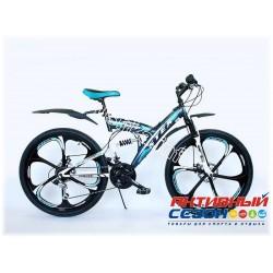 """Велосипед STEX SAMURAI (26"""" 21 скор.) (Цвет: Черно-Зеленый) Рама Сталь"""