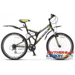 """Велосипед Stels Challenger V (2016) (26"""" 21 скор.) (Р-р = 20; Цвет: Черный / Серый / Зеленый) Рама Сталь"""