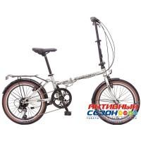 Велосипед складной Novatrack Aurora 20 (20'' 6 скор.) (Цвет: Серебристый; Коричневый; Бирбзовый) Рама Сталь