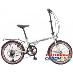 Велосипед складной Novatrack Aurora 20 (20'' 6 скор.) (Цвет: Серебристый; Коричневый) Рама Сталь