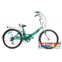 """Велосипед складной Байкал (24"""" 6 скор.) (Цвет: Светло-Зеленый (Бирюзовый)) Рама Сталь"""