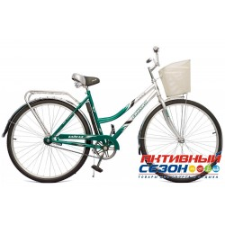 Велосипед Байкал с корзиной (28 дм. 1 скор.) (Ярко-Зеленый (Бирюзовый)) Рама Сталь