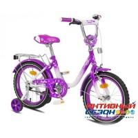 """Детский велосипед MaxxPro Sofia 16"""" (Белый / Фиолетовый)"""