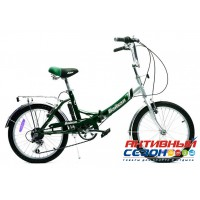 """Велосипед складной Байкал (20"""" 6 скор.) (Цвет: Зеленый; Красный) Рама Сталь"""