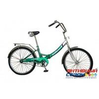 """Велосипед складной Байкал (24"""" 1 скор.) (Цвет: Бирюзовый; Зеленый) Рама Сталь"""