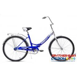 """Велосипед складной Байкал (26"""" 1 скор.) (Цвет: Синий) Рама Сталь"""