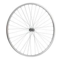 """Колесо 28"""" переднее(без резины), одинарный алюм.обод 36 отв, втулка сталь, гайка для велосипедa"""