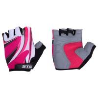 """Перчатки летние STG с """"дышащей"""" системой вентиляции для велосипедa, красные (M,L)"""