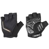 Перчатки на липучке  STG для велосипедa, черные/серые (S, M, L, XL)