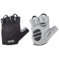Перчатки летние STG с вентиляцией для велосипедa, черные/серые (S, M, L, XL)