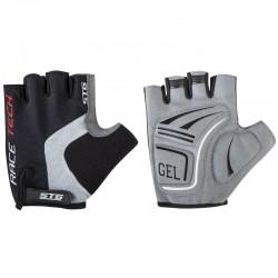 Перчатки летние на липучке STG для велосипедa, черные/серые (S, M, L, XL)