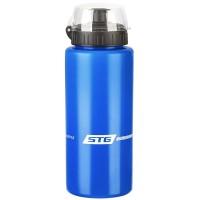 Велофляга STG 600мл с защитной крышкой для велосипедa (синяя)