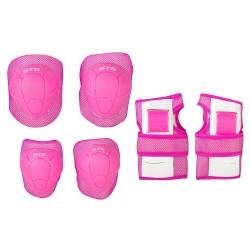 Защита детская STG YX-0304 комплект для велосипедa (розовый)