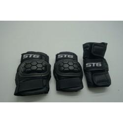 Защита детская STG YX-0303 комплект для велосипедa (черный)